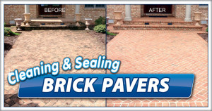 Hardscape cleaning by Camelot Pressure Washing