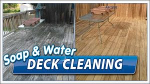 Deck cleaning by Camelot Pressure Washing in Charlotte, NC