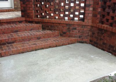 Brick/Concrete After Cleaning