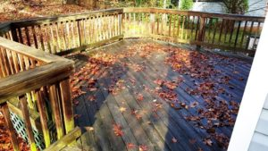 Dirty deck in need of cleaning by Camelot Pressure Cleaning in Charlotte, NC
