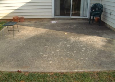 Patio Before Cleaning