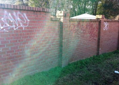Sprayed Wall Before