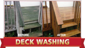 Deck washing by Camelot Pressure Washing in Charlotte, NC