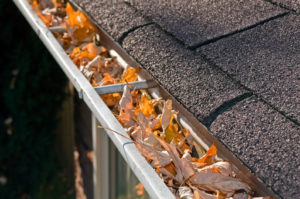 Gutters in need of cleaning by Camelot Pressure Washing in Charlotte, NC