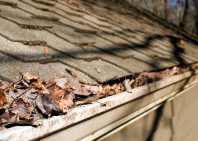Gutter in need of cleaning by Camelot Pressure Washing in Charlotte, NC