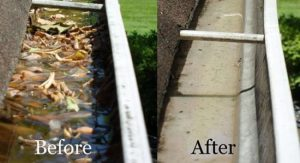 Gutter Cleaning in Charlotte, NC by the power washing experts at Camelot Pressure Washing in Harrisburg, NC
