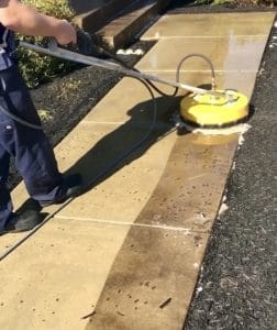 Concrete cleaning by Camelot Pressure Washing in Harrisburg, NC