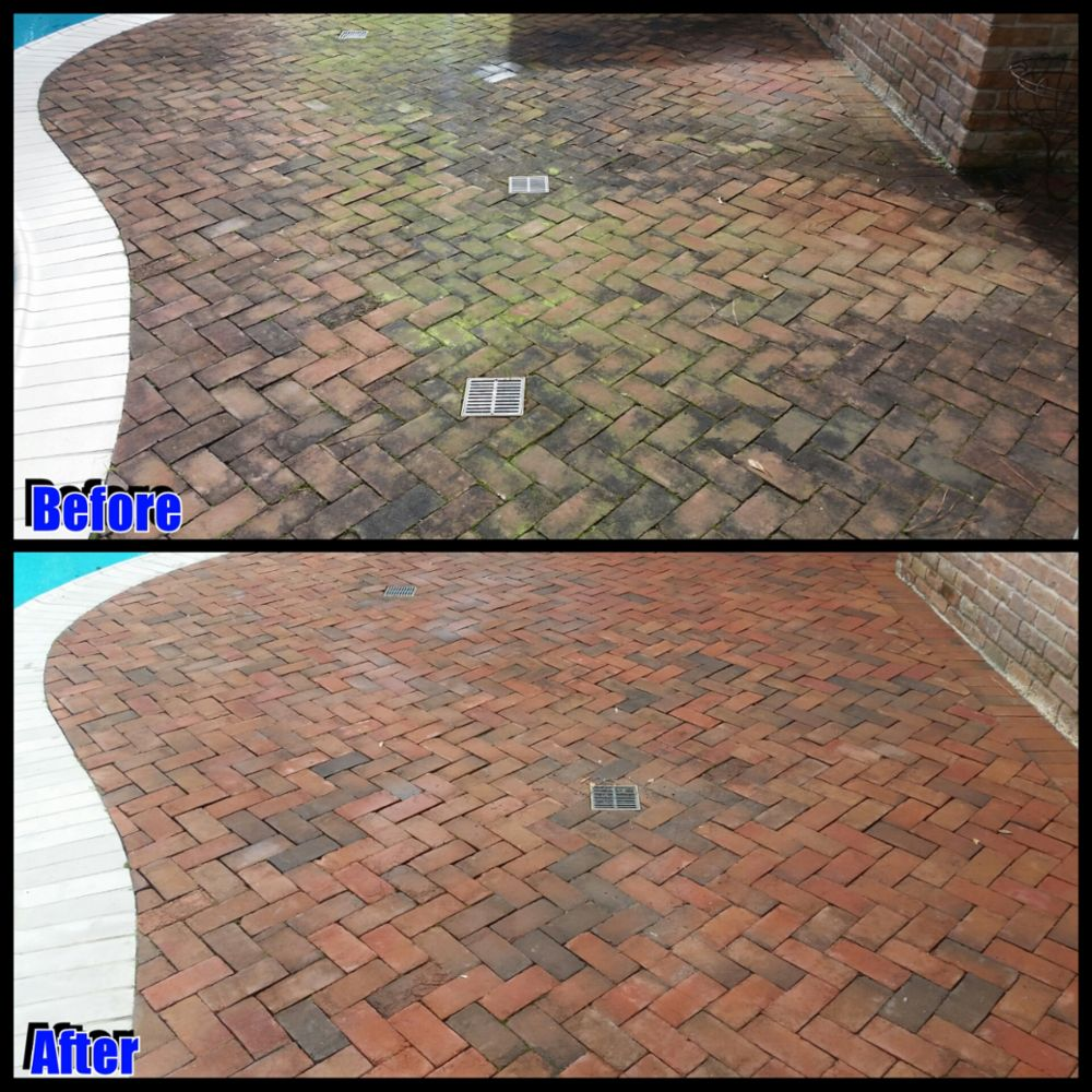 Pool deck cleaning by Camelot Pressure Washing in Charlotte, NC