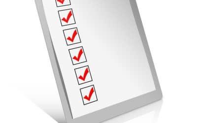 End of Summer Checklist
